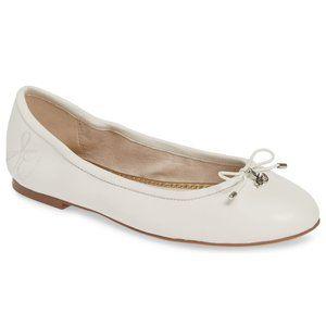 New SAM EDELMAN Nappa Leather Felicia Ballet Flat